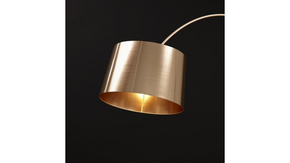 Still - lampadaire arqué cuivre