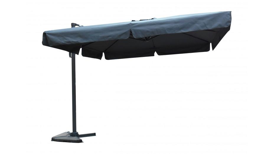 Toile parasol 3x3 grise avec flap   TELA