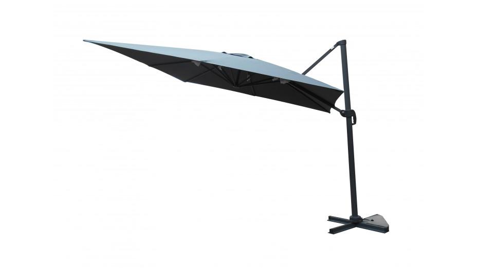 Toile grise sans flap pour parasol 3 x 3