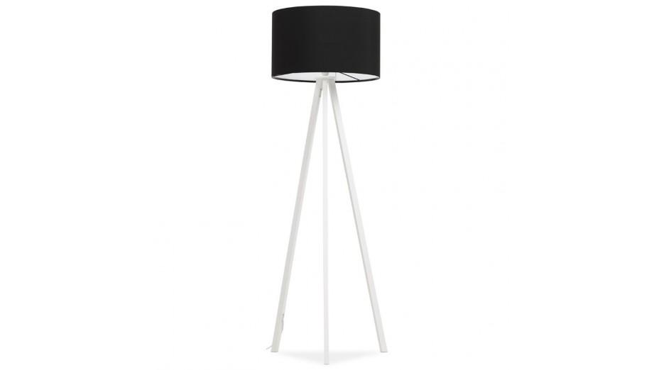 modena lampadaire tr pied abat jour noir pied blanc. Black Bedroom Furniture Sets. Home Design Ideas