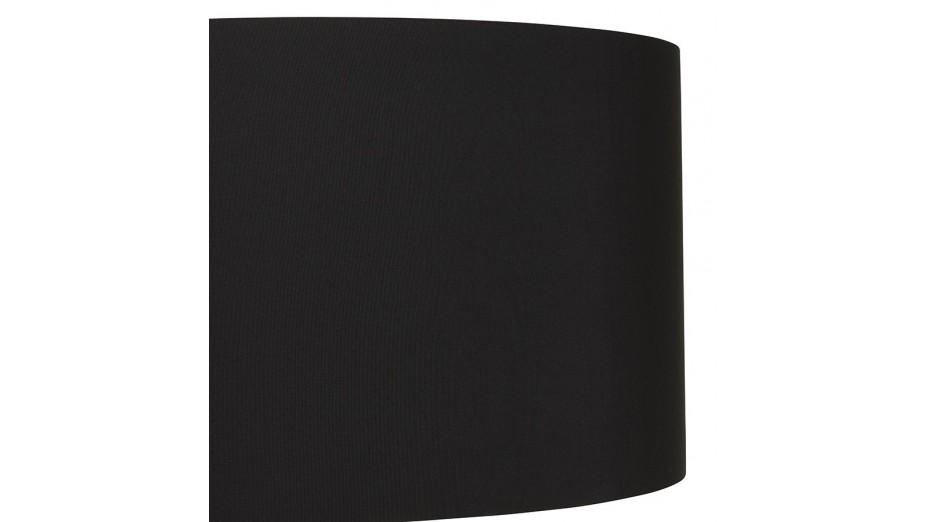 Modena - Lampadaire trépied abat-jour noir pied blanc