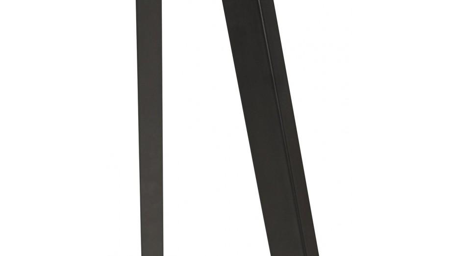Modena - Lampadaire trépied abat-jour gris pied noir