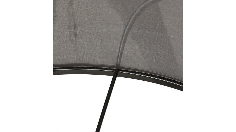 Modena - Lampadaire trépied abat-jour gris pied chêne naturel