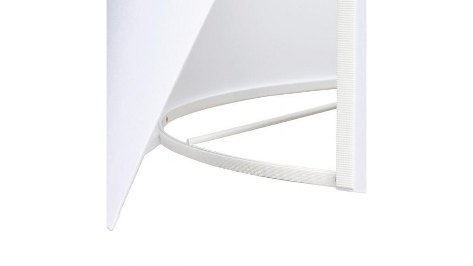 Modena - Lampadaire trépied abat-jour blanc pied blanc