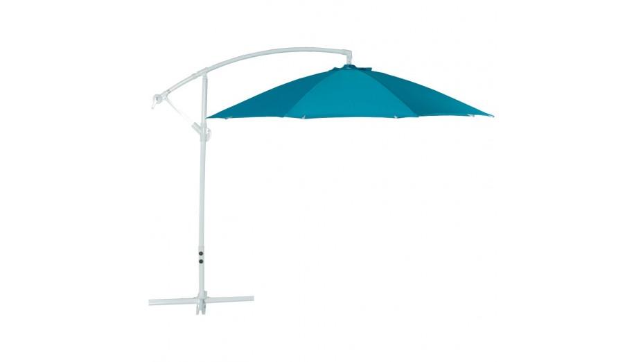 Strong - parasol déporté bleu rond 3 m