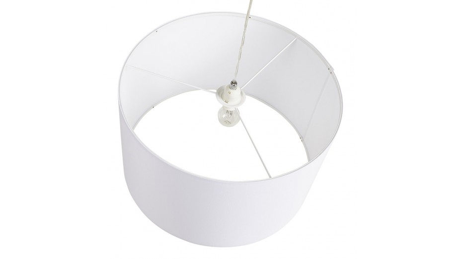 Tiana - Suspension abat-jour blanc