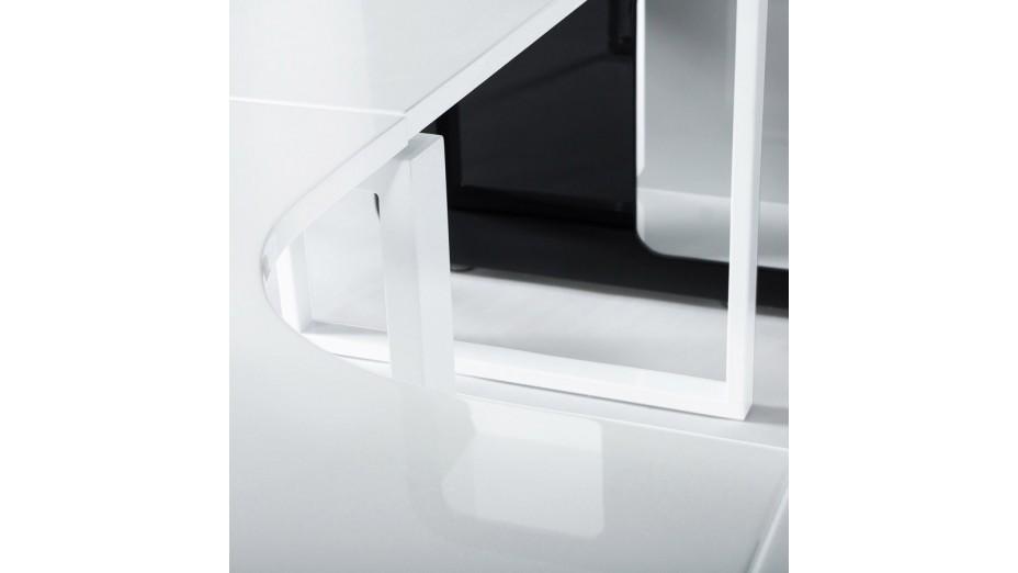Bureau d\'angle en bois laqué blanc