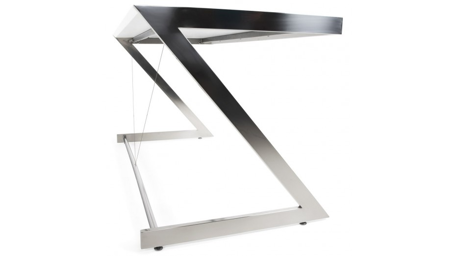 aris bureau design pied chrome