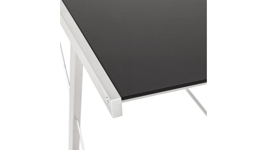 Table en verre trempé noir inspiration s duisant plateau ikea