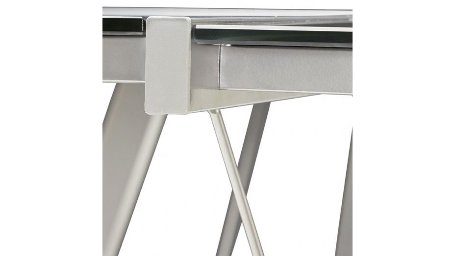Mercure - Bureau d'angle design plateau verre noir