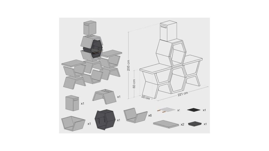 MOD 05 - Barbecue design en béton