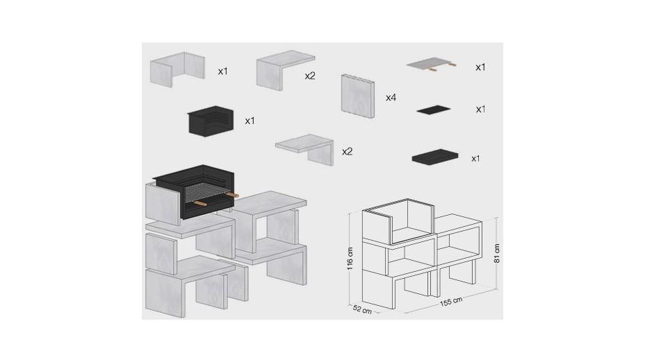 LIV 04 - Barbecue design en béton