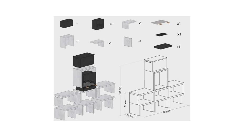 LIV 04 - Barbecue design en bét5n