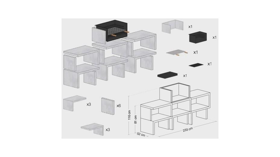 LIV 06 - Barbecue design en béton