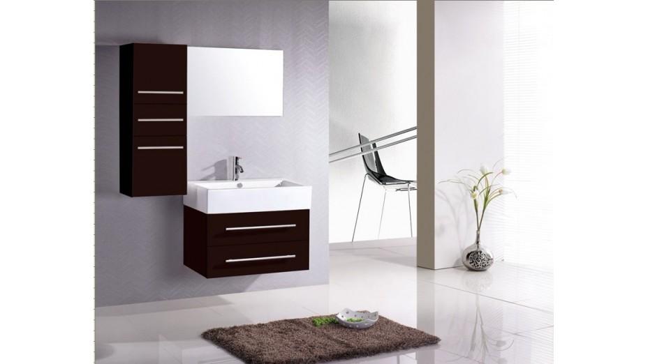 Meuble de salle de bain simple vasque colonne de rangement - Meuble de salle de bain colonne de rangement ...