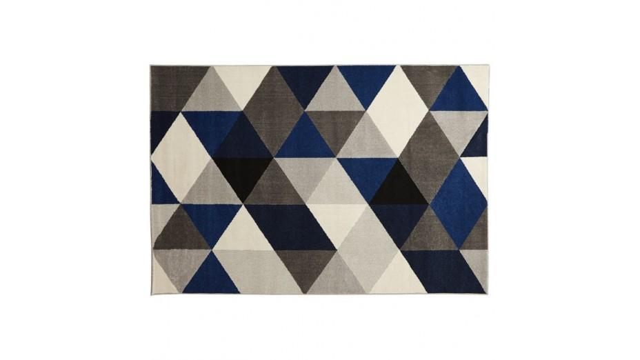 Graph - tapis design 230 x 160 cm Bleu