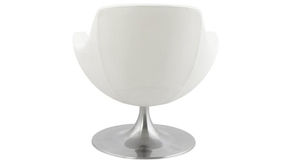 Lounge - Fauteuil moderne en simili-cuir Blanc
