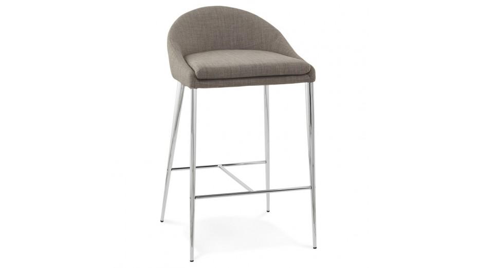Math - Tabouret de bar mi-hauteur assise tissu