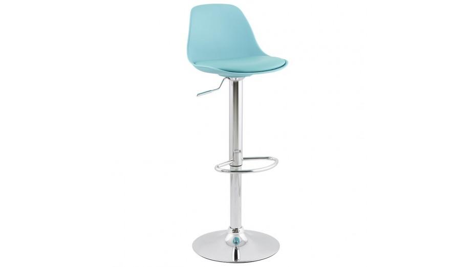 Jelly tabouret de bar réglable assise bleu