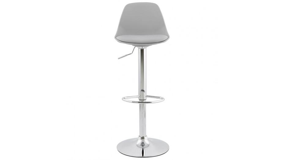 Jelly - tabouret de bar réglable assise grise