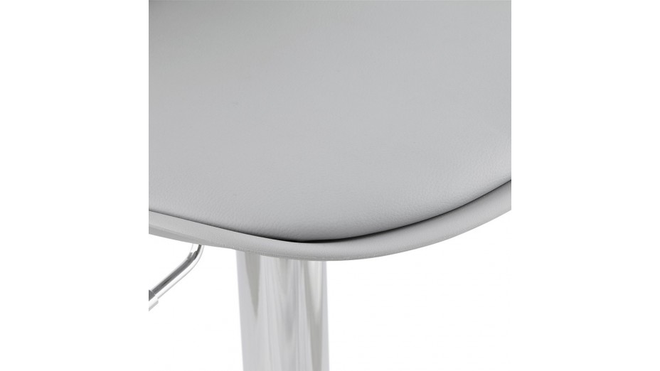 Jelly - tabouret de bar réglable assise grise
