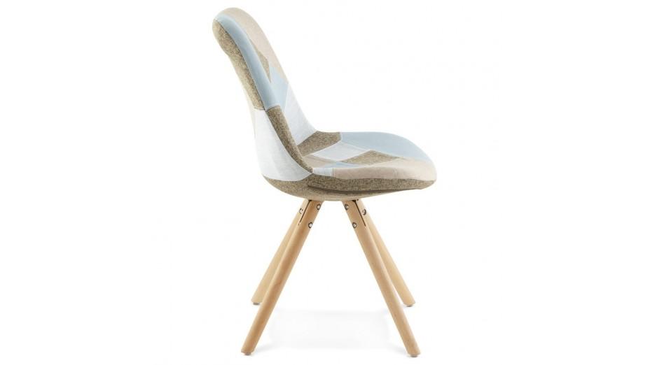 chaise patchwork pied bois - Chaise Pied En Bois