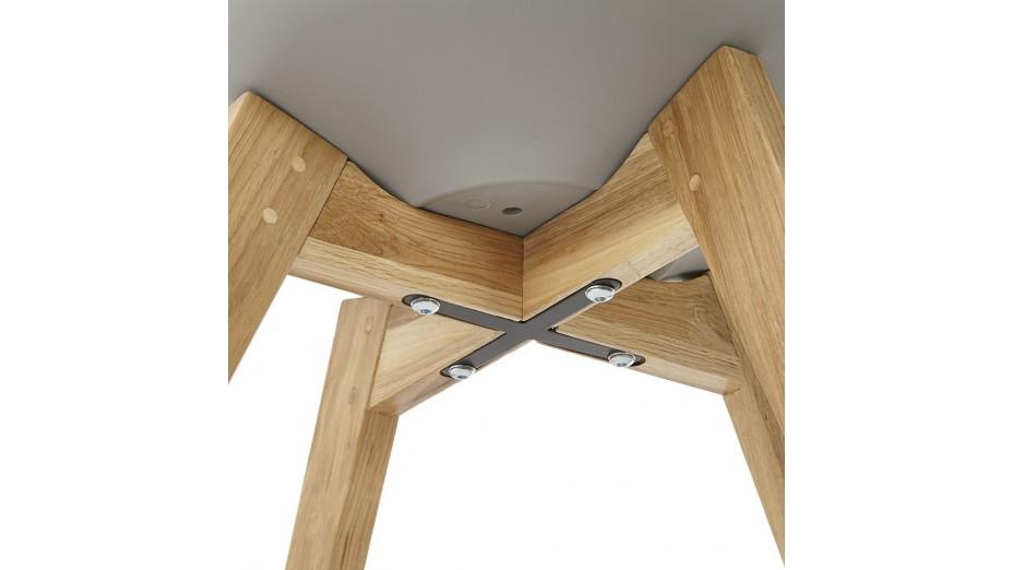 Trendy - Chaise Grise pied bois