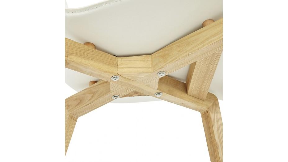 Similicuir Scandinave Style Chaise Blanc Scandi 4jq3S5LcAR