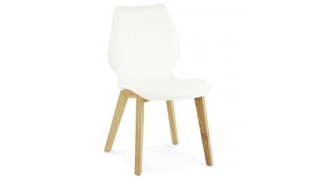 trendy chaise grise pied bois. Black Bedroom Furniture Sets. Home Design Ideas