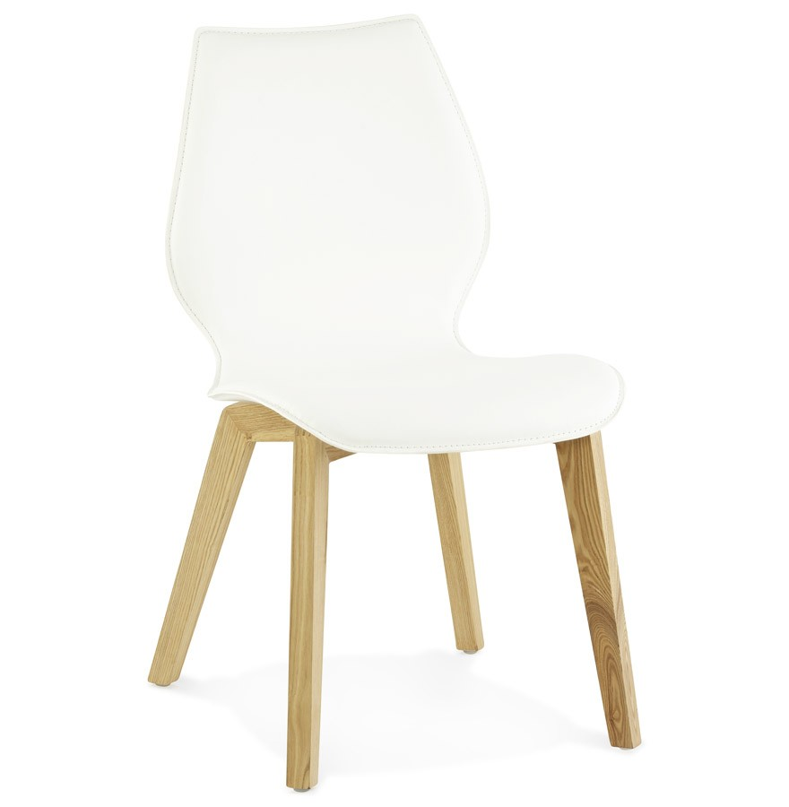 scandi chaise style scandinave similicuir blanc. Black Bedroom Furniture Sets. Home Design Ideas