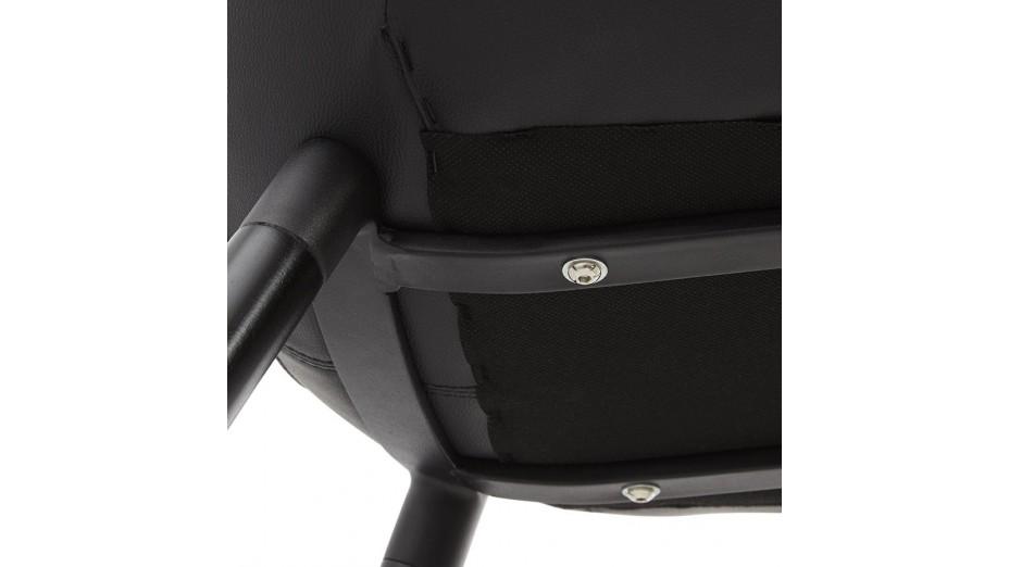 Leg - Chaisecontemporaine en similicuir noir
