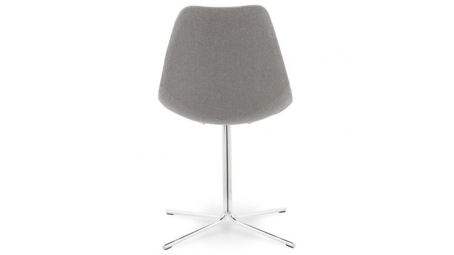 moom chaise contemporaine en tissu gris. Black Bedroom Furniture Sets. Home Design Ideas