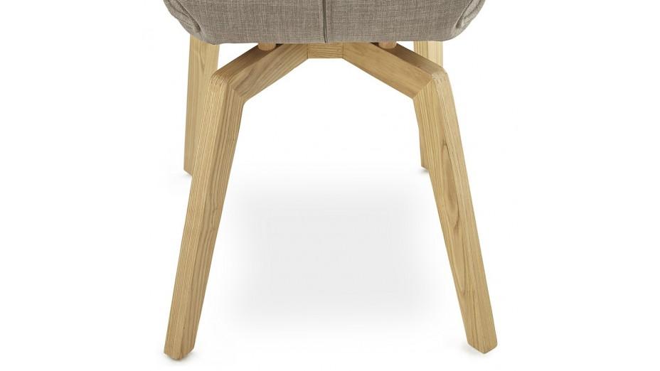 missi chaise moderne en tissu gris - Chaise En Tissu Gris