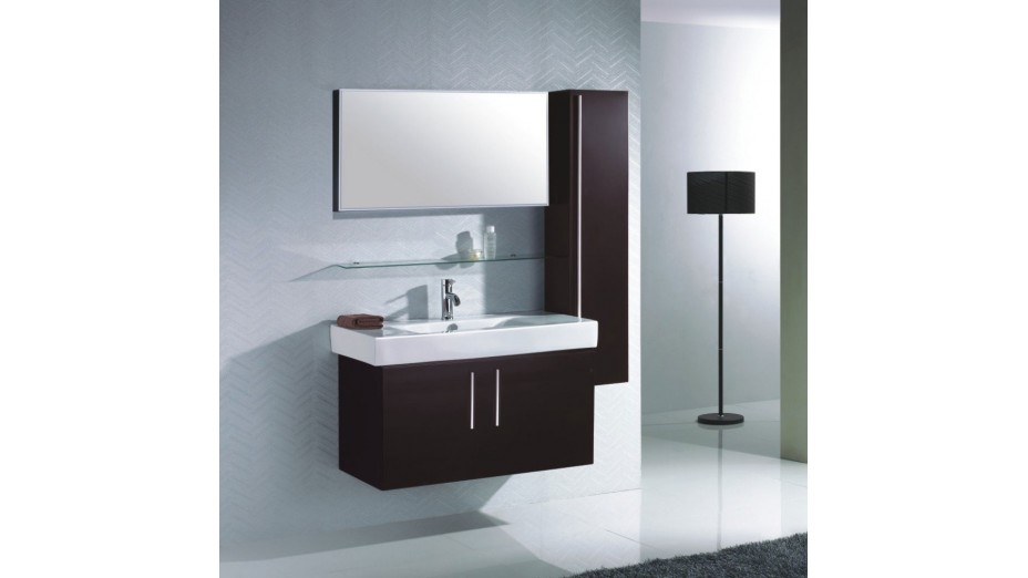 meuble colonne salle de bain avec miroir. Black Bedroom Furniture Sets. Home Design Ideas