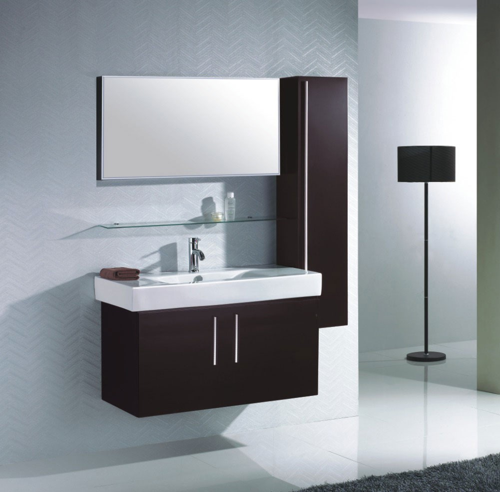 ensemble meuble salle bain simple vasque colonne murale miroir. Black Bedroom Furniture Sets. Home Design Ideas