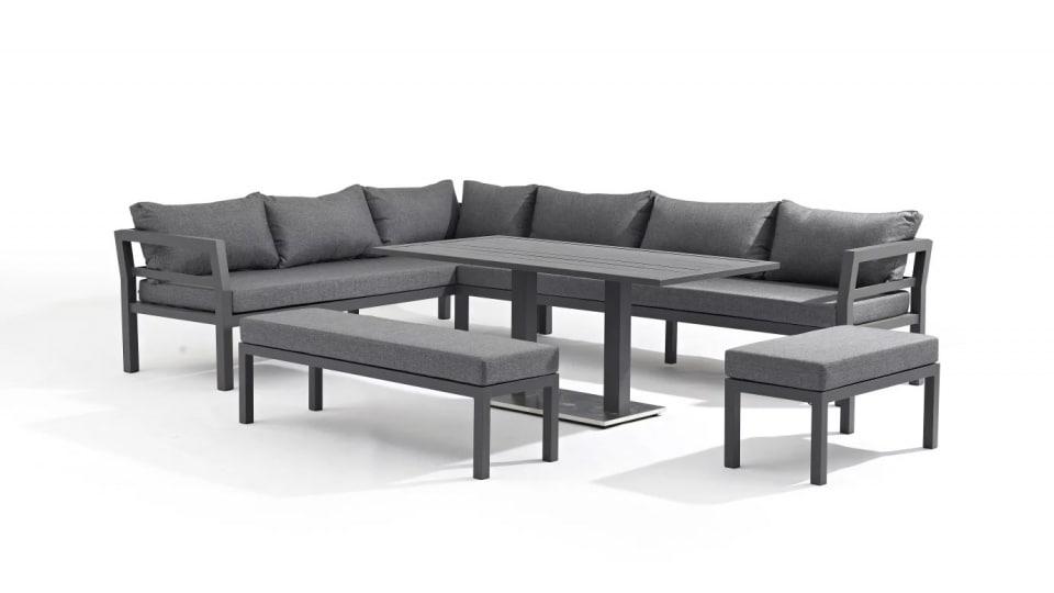 famille nombreuse optez pour le salon de jardin pour 12. Black Bedroom Furniture Sets. Home Design Ideas
