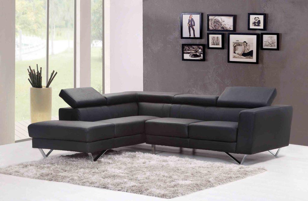canapé cuir design noir