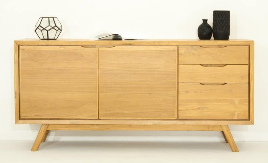 buffet delorm design chene massif interieur